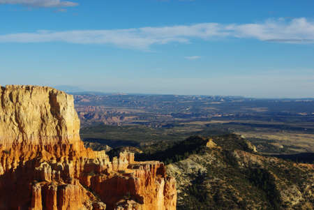 escalante: Partial view of Grand Stair Escalante National Monument from Bryce Canyon towers, Utah Stock Photo