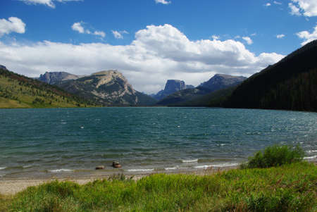 Green River Lakes and mountains, grizzly country, Wyoming