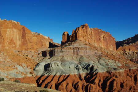 Intensely colored sandstone and rocks in Capitol Reef National Park, Utah Stock Photo - 12733562