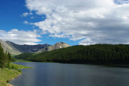 rocky mountains colorado: Clinton Gulch Dam Reservoir and Rocky Mountains, Colorado