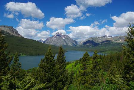 Lower Two Medicine Lake, Glacier National Park, Montana Stock Photo - 12733190