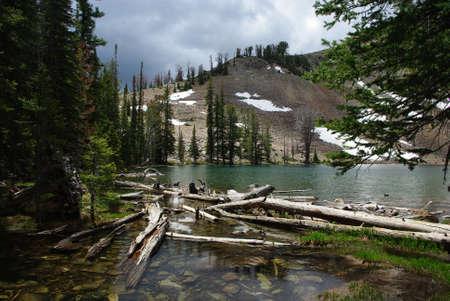 Small mountain lake in Colorado Rockies