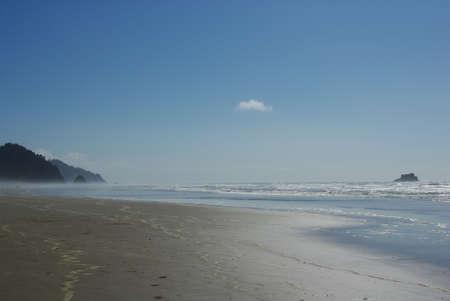 Beach on Pacific coast near Newport, Oregon