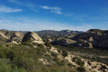 Rock formations near San Bernardino, California Stock Photo