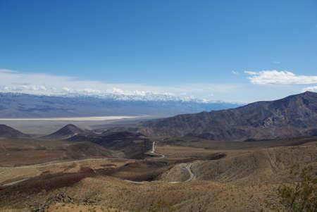 southwest usa: Death Valley, desert, mountain, cloud, sky, space, solitude, shrub, bush, sand, lonely,  hot, dry, barren, sandy, blue, black, California, southwest, usa, America, Stock Photo