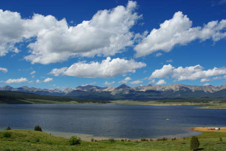 View of Taylor Park Reservoir with Rocky Mountains, Colorado
