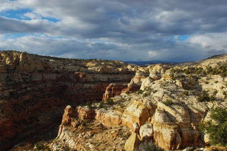 escalante: Canyon, rocks and clouds, Grand Stair Escalante National Monument, Utah