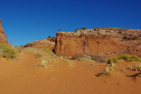 Beautiful secluded sand and rock canyon in Grand Stair Escalante National Monument, Utah photo