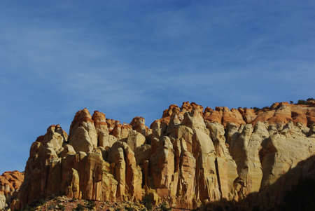 escalante: Rock towers and formations on Burr Trail Road, Utah