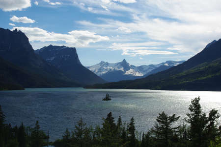 St Mary Lake, Glacier National Park, Montana photo