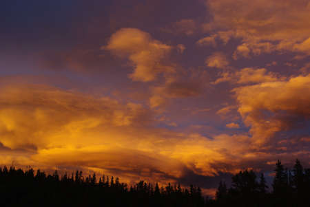 rocky mountains colorado: Beautiful colors in the evening sky, Rocky Mountains, Colorado