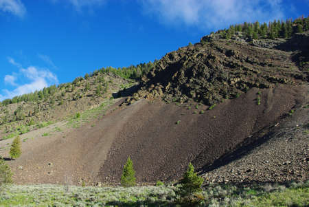 challis: Interesting mountain colors in Salmon Challis National Forest, Idaho Stock Photo