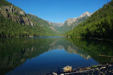 mcdonald: Beautiful Lake McDonald, Montana Stock Photo