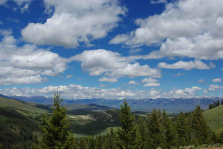 challis: Beautiful colors of valleys and skies, Hawley Mountains, Challis National Forest, Idaho