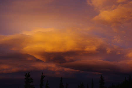rocky mountains colorado: Powerful evening colours in the Rocky Mountains, Colorado