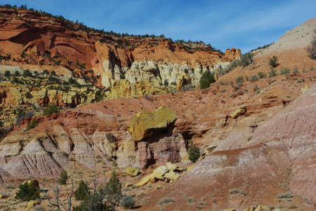 Incredible colors along Burr Trail Road, Utah Stock Photo - 12900959