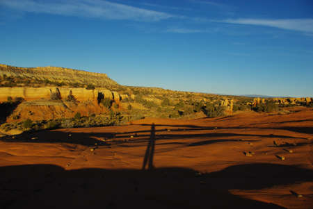the devils garden: Beautiful morning colors with shadow in Devils Garden, Utah
