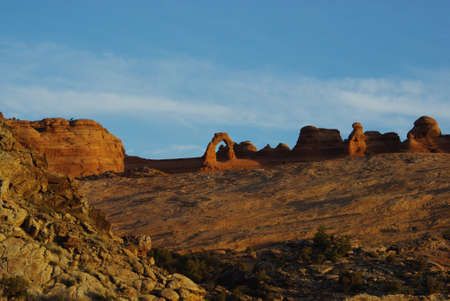 Marvelous Delicate Arch from a distance, Arches National Park, Utah Stock Photo - 12915898