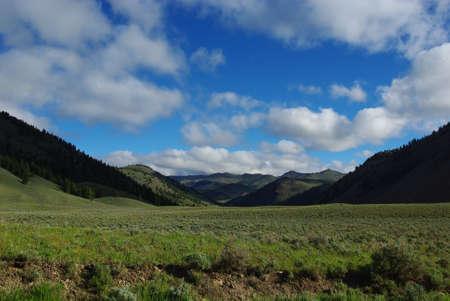 challis: High mountain valley, Salmon Challis National Forest, Idaho Stock Photo