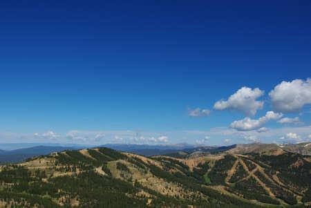 High Rockies with ski slopes, Colorado Stock Photo - 12963848