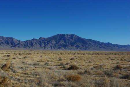 High desert and mountains, Nevada Stock Photo