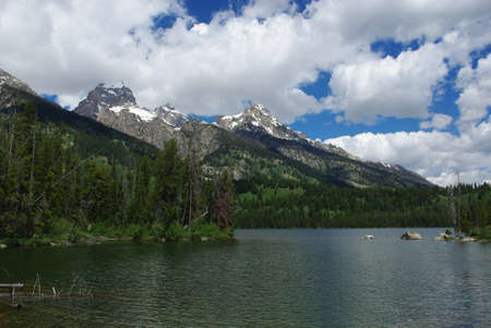 Lake and Grand Teton mountains, Grand Teton National Park, Wyoming