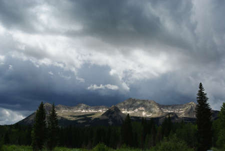 contrasts: Light contrasts on high Rocky peaks, Colorado