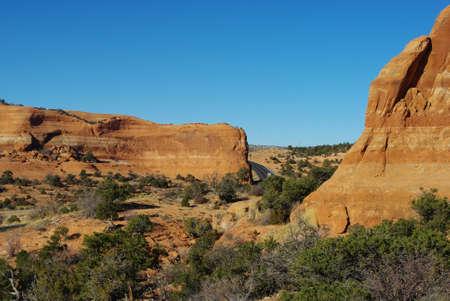 Highway 191 near Wilson Arch, Utah Stock Photo - 13042349