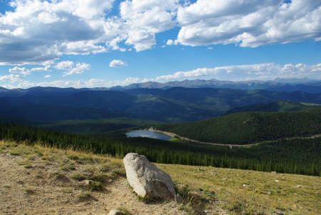 rocky mountains colorado: Rock, Echo Lake and Rocky Mountains, Colorado