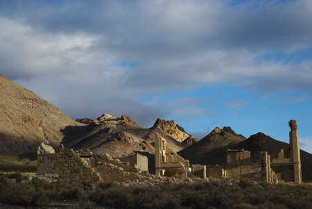 Ghost town of Rhyolite, Nevada photo