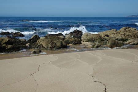 Beach, rocks and waves near Monterey, California Stock Photo - 13099213