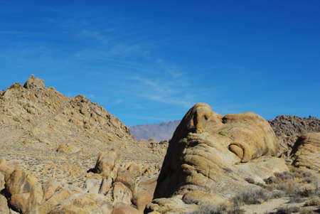 Sleeping rock giant, Alabama Hills, California photo