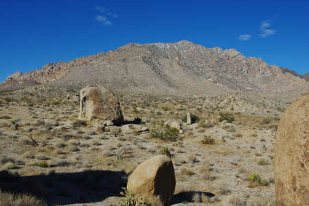 High desert rocks and mountains, Nevada Stock Photo - 13174821