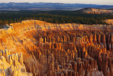 General view of Bryce Canyon in the early morning, Utah Stock Photo