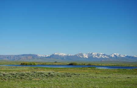 Lake, prairie and Rockies, Colorado