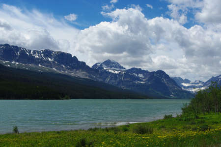 Lake Sherburne, Glacier National Park, Montana photo