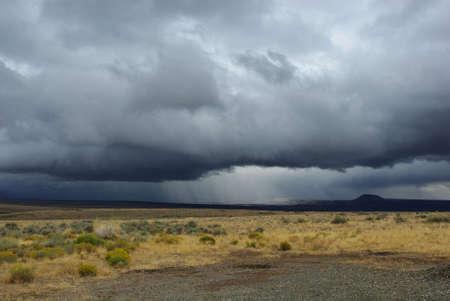 Approaching storm, Nevada desert Stock Photo - 13309280