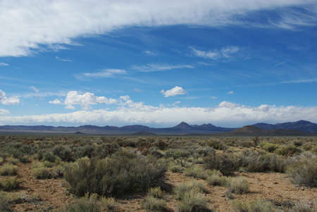 High desert and mountains, Nevada photo