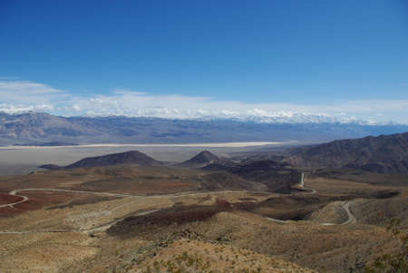 near death: Highway 190 near Death Valley, California