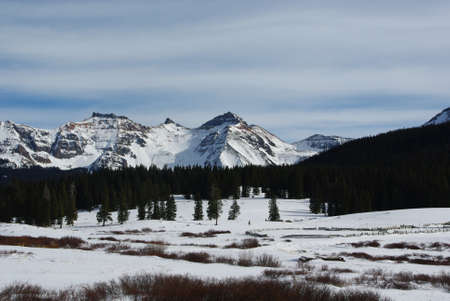 High Rockies near Lizard Head Pass towards Telluride, Colorado Stock Photo - 13309287