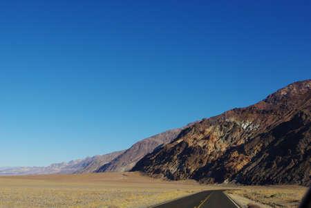 Highway through Death Valley, California Stock Photo