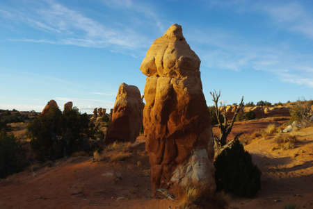 devils garden: Rock towers in the early morning, Devils Garden, Utah Stock Photo