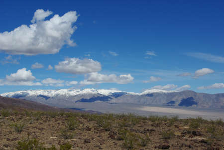 near death: Snowy Cottonwood Mountains near Death Valley, California