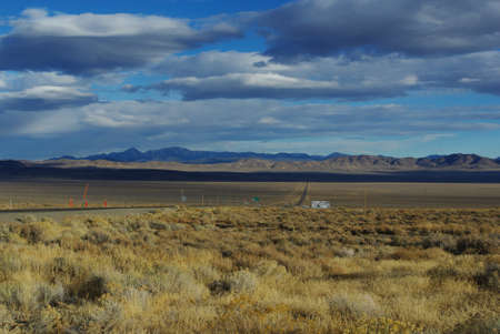 Highway 50,  Loneliest Road , Nevada Stock Photo