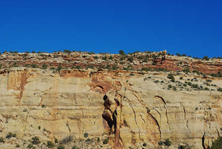 particolare: Particolare parete di roccia, Utah Archivio Fotografico