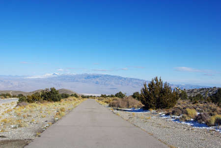 Vast desert and mountain view coming down from Mount Charleston, Nevada Stock Photo - 13366858