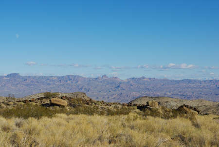 Wide view on valleys and distant mountain ranges, Nevada