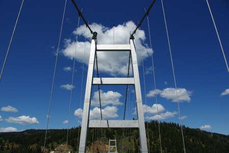 Bridge above Clearwater River, Idaho