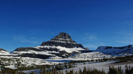 Glacier National Park near Logan Pass, Montana Stock Photo - 13553009