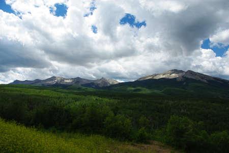 rocky mountains colorado: Light and shadow, Rocky Mountains, Colorado Stock Photo